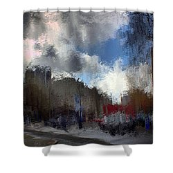 Streetlights 2 Shower Curtain by Terence Morrissey