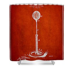 Striking Bag Patent Drawing From1894 Shower Curtain by Aged Pixel