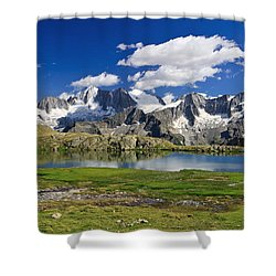 Shower Curtain featuring the photograph Strino Lake - Italy by Antonio Scarpi