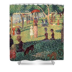 Study On La Grande Jatte Shower Curtain by Georges Seurat