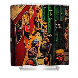 Subway Shower Curtain by Rob Hans