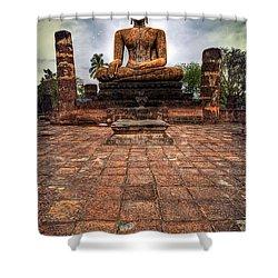 Sukhothai Buddha Shower Curtain by Adrian Evans