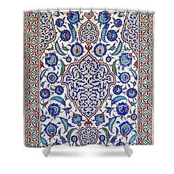 Sultan Selim II Tomb 16th Century Hand Painted Wall Tiles Shower Curtain