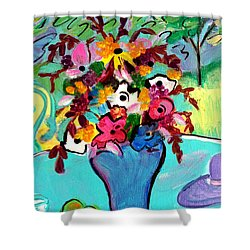 Summer Blooms 2  Shower Curtain