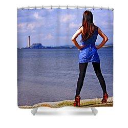 Summer Dress Shower Curtain by Craig B