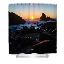 Sun Kissed Shower Curtain by CML Brown