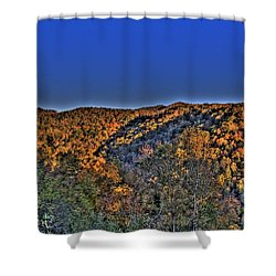 Shower Curtain featuring the photograph Sun On The Hills by Jonny D