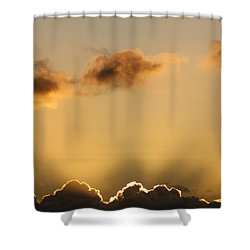 Sun Rays And Dark Clouds Shower Curtain