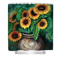 Sunflowers Shower Curtain by Jasna Dragun