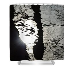 Shower Curtain featuring the photograph Sunlight On Water by Jane Ford