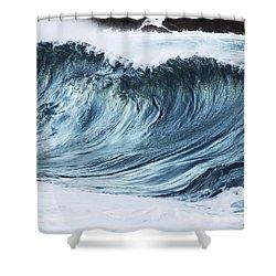 Sunlit Wave Shower Curtain by Vince Cavataio
