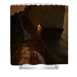 Sunrise At Old Harry Rocks Shower Curtain by Ian Middleton
