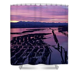 Sunrise Lumber Mill Shower Curtain