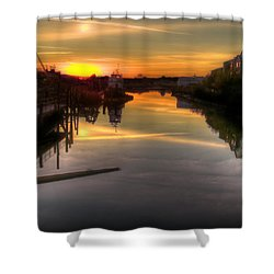 Sunrise On The Petaluma River Shower Curtain