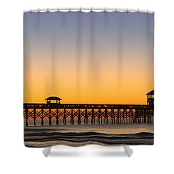 Sunrise Pier Shower Curtain