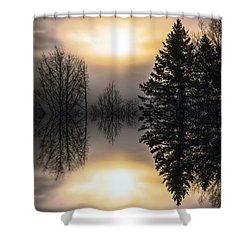 Sunrise-sundown Shower Curtain