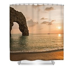 Sunset At Durdle Door Shower Curtain