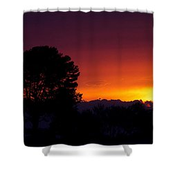 Shower Curtain featuring the photograph Sunset by Brian Williamson