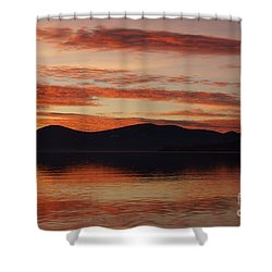 Sunset Over Lake Tahoe Shower Curtain by Benjamin Reed