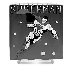 Superman  Shower Curtain by Mark Ashkenazi