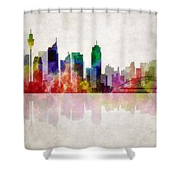 Sydney Australia Skyline Shower Curtain by Daniel Hagerman