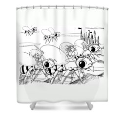 Shower Curtain featuring the drawing Tammy In Polynesia by Reynold Jay