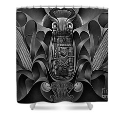 Tapestry Of Gods - Chicomecoatl Shower Curtain