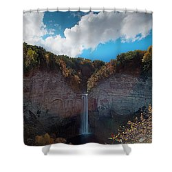 Shower Curtain featuring the photograph Taughannock Falls Ithaca New York by Paul Ge
