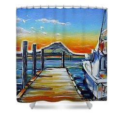 Tauranga Marina 180412 Shower Curtain