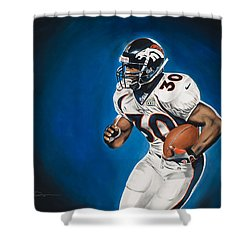 Terrell Davis  Shower Curtain