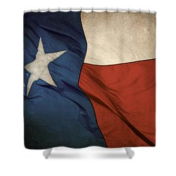 Rustic Texas Flag  Shower Curtain by David and Carol Kelly
