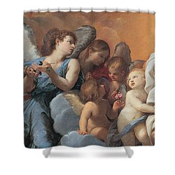 The Assumption Of The Virgin Mary Shower Curtain by Guido Reni