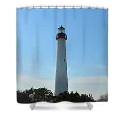 The Beacon Of Cape May Shower Curtain by Bill Cannon