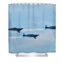 The Blades Aerobatic Team Shower Curtain