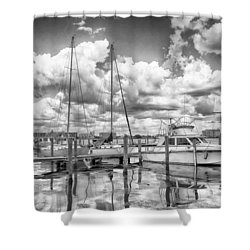 The Boat Shower Curtain by Howard Salmon