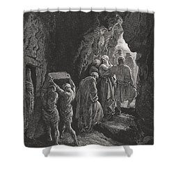 The Burial Of Sarah Shower Curtain by Gustave Dore