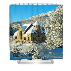 The Chapel On The Rock II Shower Curtain by Eric Glaser