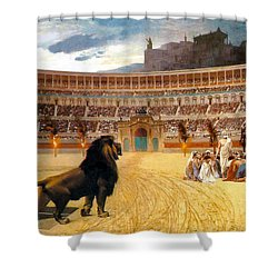 The Christian Martyrs' Last Prayer Shower Curtain by Jean Leon Gerome