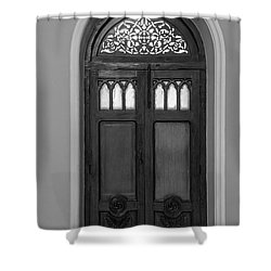 The Closed Door Shower Curtain