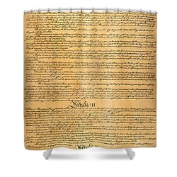 The Constitution, 1787 Shower Curtain by Granger