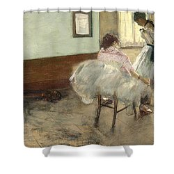 The Dance Lesson Shower Curtain by Mountain Dreams