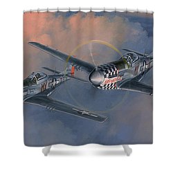 The Duxford Boys Shower Curtain by Wade Meyers