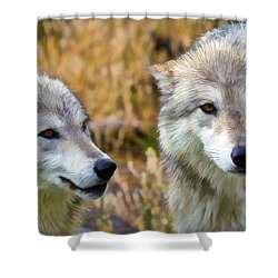 The Eyes Have It Shower Curtain by Athena Mckinzie