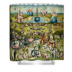 The Garden Of Earthly Delights Shower Curtain by Hieronymus Bosch