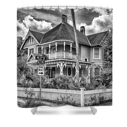 The Gingerbread House Shower Curtain by Howard Salmon