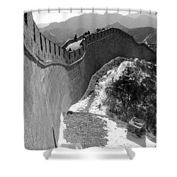 The Great Wall Of China Shower Curtain by Sebastian Musial