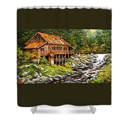 The Grist Mill Shower Curtain by Jim Gola