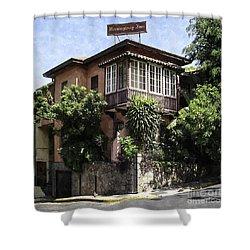 The Hemmingway Inn Shower Curtain by Lynn Palmer