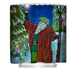 The Holly King Shower Curtain