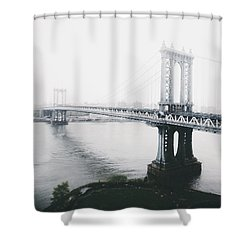 The Manhattan Bridge Shower Curtain